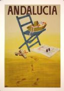 Vintage Spanish poster - Andalucia, Spain (1950)
